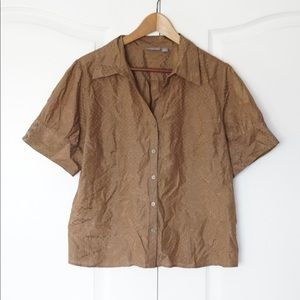 Women's Apt. 9 Petite X­Large Brown Blouse Top